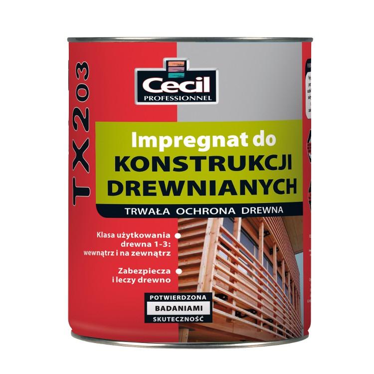 Impregnat do konstrukcji drewnianych TX203 Cecil