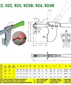 Docisk poziomy boczny z dodatkowym zabezpieczeniem RAIS 923B
