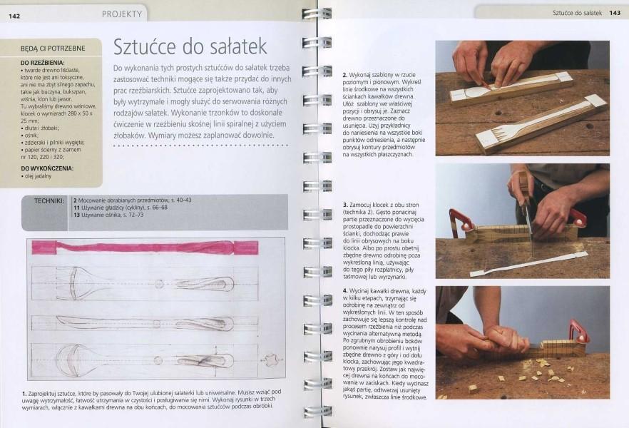 Snycerstwo - materiały, narzędzia, techniki rzeźbiarskie i wykończeniowe, projekty, galeria prac