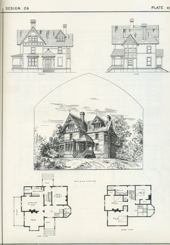 Victorian Wooden & Brick Hauses with Details