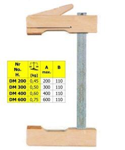 Ścisk drewniany mimośrodowy DM 400