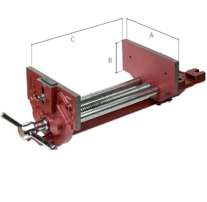 Imadło stolarskie PIHER z mechanizmem szybkiego zwalniania śruby