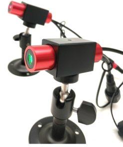 Laser liniowy Laserglow 5mW kołowy z punktem - czerwony